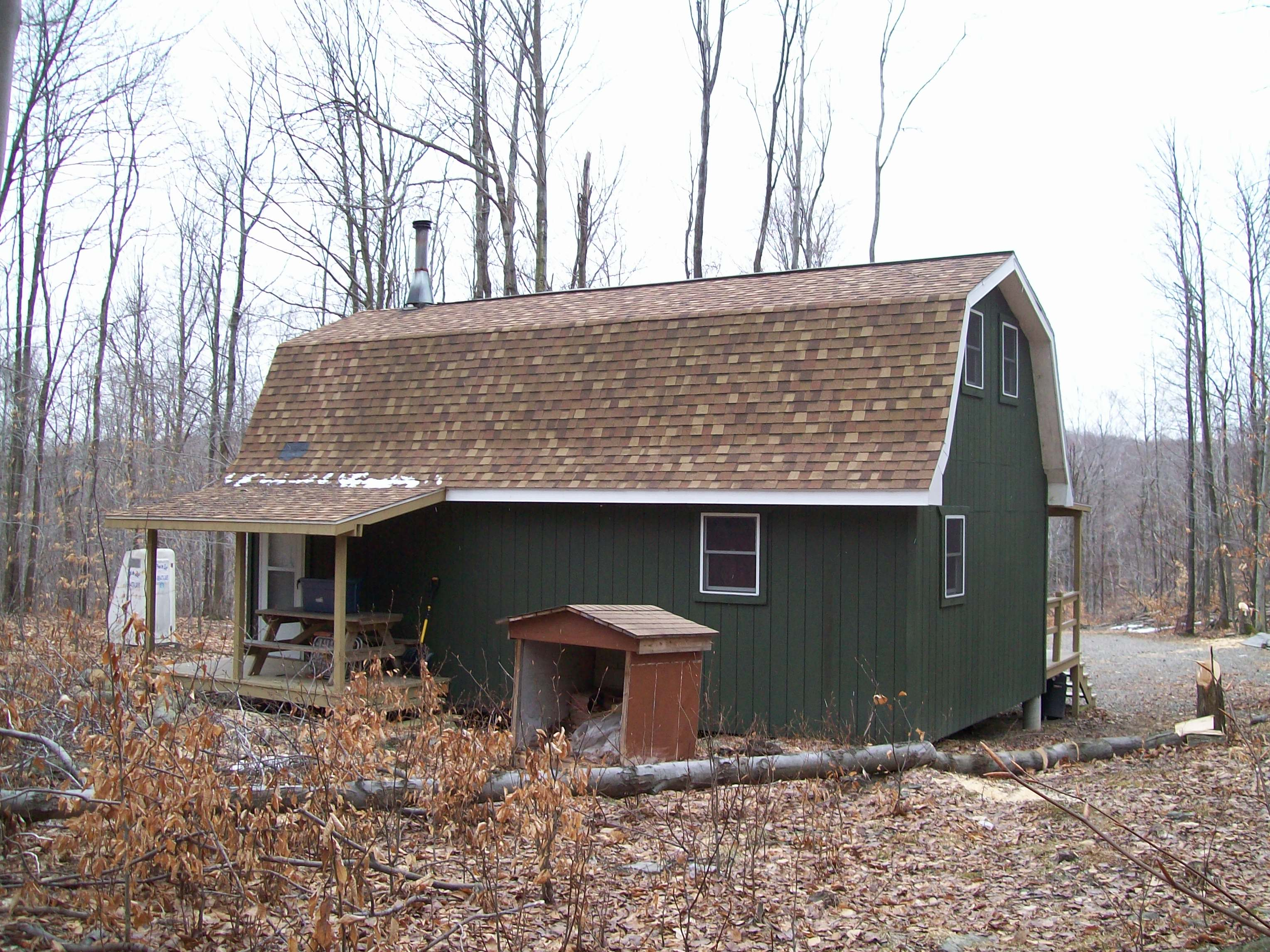 Hunting Cabin Plans with Loft